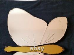 Miroir Papillon Art Déco Sans Cadre Biseauté Coloré