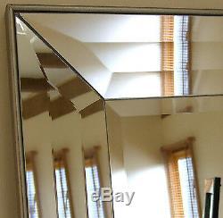 Modena-g Très Grand Miroir Maigre Vénitien Biseauté Avec Tranche De Placage 31 X 65