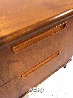 Moderniste Teck Cabinet Enfilade Siècle Rétro Vintage MID Danoise Era 1960