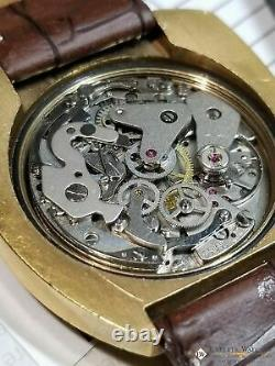 Montre Carronade Vintage Serviced Chronographe Valjoux 7734 Or 42,50 MM