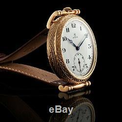 Montre Vintage Dial Mouvement Mécanique Restauré Suisse Omega Émail Hommes