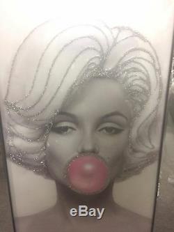 New Scintillant Marilyn Monroe Picture Glitter Dans Un Cadre En Miroir, Glitter Art