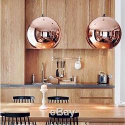 New Tom Dixon Suspension De Lampe De Plafond En Cuivre Avec Boule De Suspension, Éclairage Dia