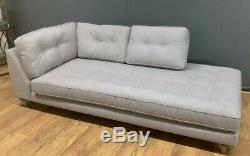 New West Elm Peggy Chaise Fin Affichage Sofa Ex W 216cm