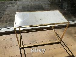 Nouveau Moderne Déco Table De Café Rectangulaire Marbre Cadre Or De Graham & Vert