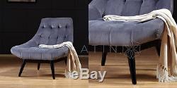 Nouvelle Marque Karl Chairs De Velours De Luxe Disponible En Différentes Couleurs Qualifié Uk