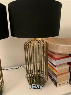 Paire De Lampes De Base D'or Dans Un État Incroyable De Graham Et Green