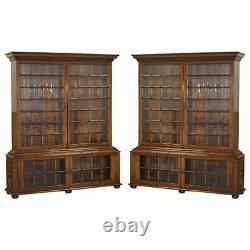 Paire De Très Important Samuel Pepys 1666 Grande Bibliothèque Bibliothèques Après Original