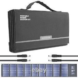 Panneau Solaire Portable Pliable 60w 12v 18v Chargeur De Batterie Usb DC 1.3kg Hyundai