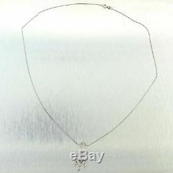 Pendentif En Filigrane De Diamant De 0,35 Ct De Style Art Déco Vintage En Or Blanc 14k À Motif B9