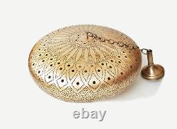 Pendentif Marocain Light Brass Antique Vintage, Lampe Handmad Marocaine Cuivre 40cm