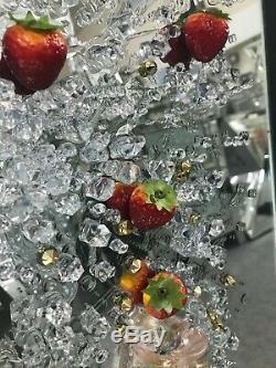 Photo 3d De Splash Champagne En Cristal Broyé, Art Mural Dans Un Cadre En Cristal Broyé