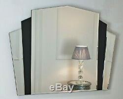 Piermont Miroir Art Deco En Verre Noir Encadré 43 X 32 (110cm X 80cm)