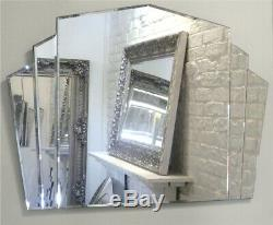 Piermont Verre Encadré Trumeau Art Déco Miroir 43 X 32 (110cm X 80cm)