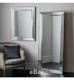 Plancher De Sol Bertoni X Large Venetian Leaner Miroir Biseauté Cadre Incliné 75x32