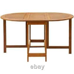 Pliage Drop Leaf Dining Table Wooden Restaurant Kitchen Outdoor Garden Table Royaume-uni