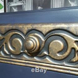 Professionnellement Art Déco Revernir / Nouveau Style Cabinet Bleu Et Or Upcycled