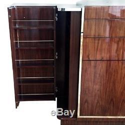 Ralph Lauren Rosewood Et Poli Duke Steel Bar Art Déco Cabinet