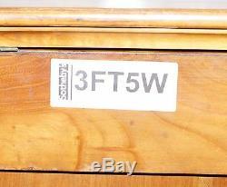 Rare 1840 Allemand Biedermeier En Bois De Cerisier Commode Commode Marbre Intérieur