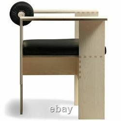 Rare Morelato Fauteuil Unique Design De Mario Botta Beau Bois Et Cuir