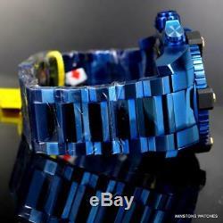 Réserve Invicta Grand-octane Blue Label 63mm Bracelet En Acier Suisse Mvt Nouvelle Montre