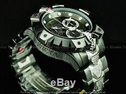 Réserve Invicta Hommes King Viper Venom 52 MM Suisse Z60 Chrono Noir 2tone Ss Montre
