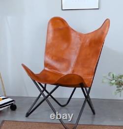 Rétro Butterfly Chair Vintage Industrial Style Metal Siège De Meubles Rembourrés