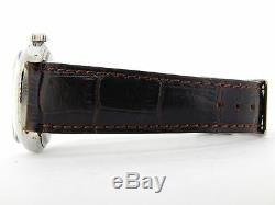 Rolex Datejust En Acier Inoxydable Hommes Or Blanc 18 Carats Montre Brown Cadran Argent 1601