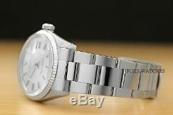 Rolex Datejust Mens Montre En Acier Inoxydable + Rolex En Or Blanc 18 Carats Lunette