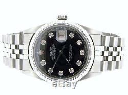 Rolex Datejust Montre En Acier Inoxydable Avec Black Diamond Jubilee Dial 1601