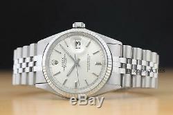 Rolex Oyster Perpetual Datejust + Rolex En Or Blanc 18 Carats Lunette Cannelée Montre