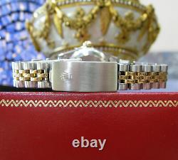 Rolex Oyster Perpetual Lady-datejust 26mm Montre En Acier D'or Et Diamants
