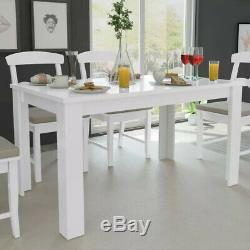 Salle À Manger Moderne Table De Salle Rectangulaire Cuisine Blanche Table À Manger 4-6 Seaters Nouveau