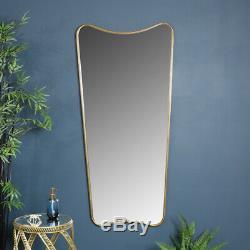 Shabby Chic Très Grand Cru Miroir Étage Mur Or Antique Courbe De Plus Maigre