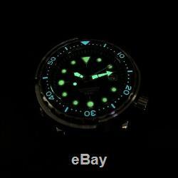 Steeldive Marine Maître Sunray Bleu Thon Nh35 Diver 300m Montre Automatique Bgw9 / C3