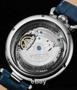 Stuhrling 01 889 Modena Héritage Automatique Dual Time Skeleton Am / Pm Mens Watch