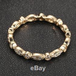Style Art Déco Antique. Alliance En Or Jaune De 14 Carats Avec Diamants 32 Carats