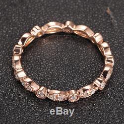 Style Art Déco Antique. Alliance En Or Rose De 14 Carats Sertie De Diamants 32 Carats