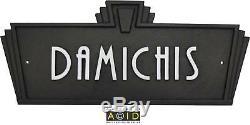 Style Art Déco Nom De La Maison Plaque Plaque De Porte Plaque Rétro Signe Années 1930 Années 1940