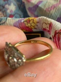 Superb, Vintage, Taille 0.90cts Antique Art Deco Style Or 18 Carats Bague En Diamant M