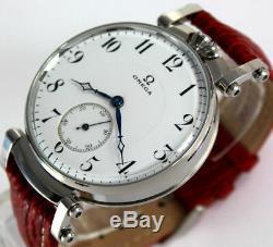 Superbe Omega Swiss Jumbo Art Déco Style Mariage Armbanduhr Montre Au Poignet Aus 30er