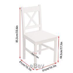Table À Manger En Bois De Pin Massif Et 4 Chaises, Meubles De Cuisine Blancs