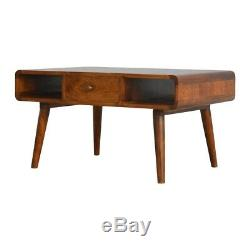 Table Basse En Bois Massif Foncé Style MID Century