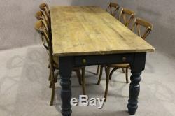 Table De Base Peinte Winchcombe De Ferme De Cuisine En Pin Récupéré, 9 Pi