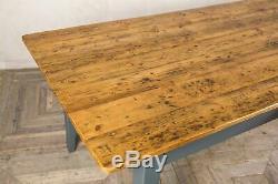 Table De Ferme Française En Pin Fait Main 250cm Avec Base Peinte La Provence