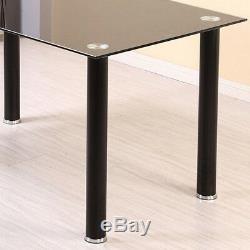 Table De Salle À Manger Moderne Et 4 Chaises Salle À Manger Cuisine Noire