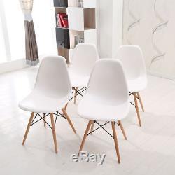 Table De Salle À Manger Ronde Et 4 Chaises Café Cuisine Salon Bureau 80cm Woodleg