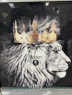 Tête De Lion De Roi Et Images De Miroir De Reine Lionne, Lion De Roi D'animal 55x55