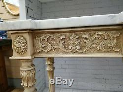 Top Console Vintage Marbre Italienne Table Table Hall D'entrée Porte D'entrée Du Plateau Table D'appoint