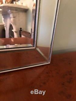 Très Grand Miroir Mural Vénitien De Style Art Déco D'une Qualité Exceptionnelle! Rrp 1200